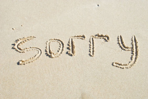 sorry in the sand