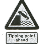 tipping point road sign image