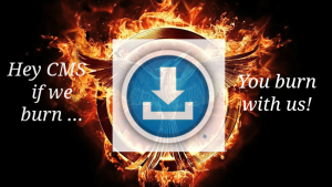 blue button mockingjay mash-up image