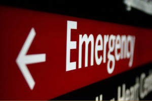 emergeny room sign