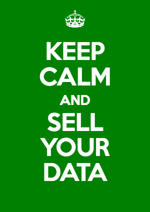 keep calm and sell your data image
